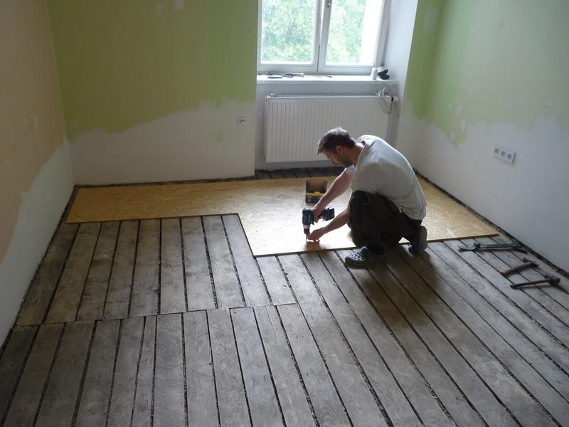Dřevěná podlaha na hlíně